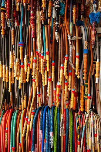 various types and styles of hookah hoses