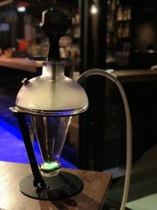 Oduman glass hookah in use