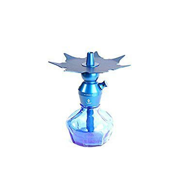 blue color B2 hookah tray and stem