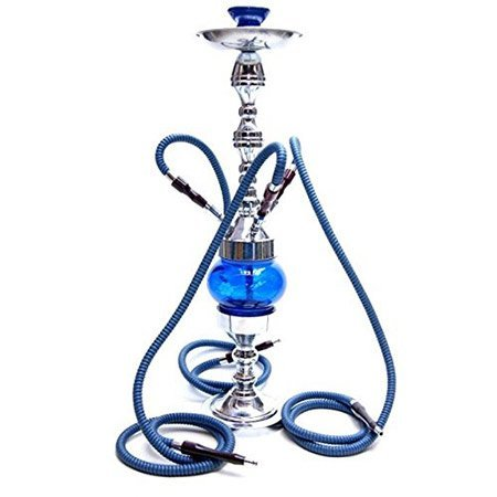 blue color traditional looking Rotating hookah