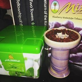 box of Al Fakher mint shisha flavor and clay phunnel bowl