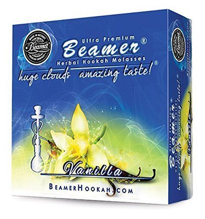box of Beamer Vanilla herbal shisha flavor