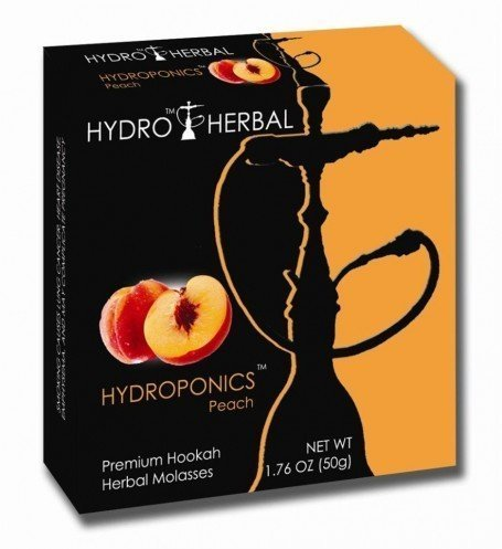 box of Hydro Herbal Peach hookah tobacco