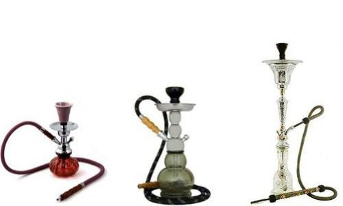 large medium and small hookah