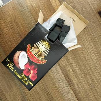 opened package of Pharaohs coco natural coals