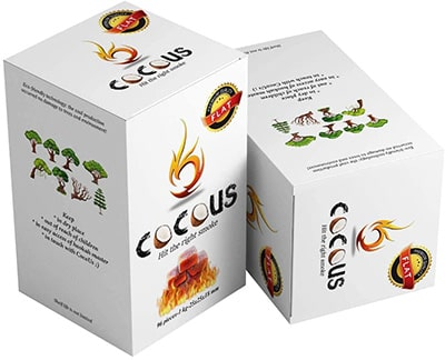 two boxes of Cocous hookah coals