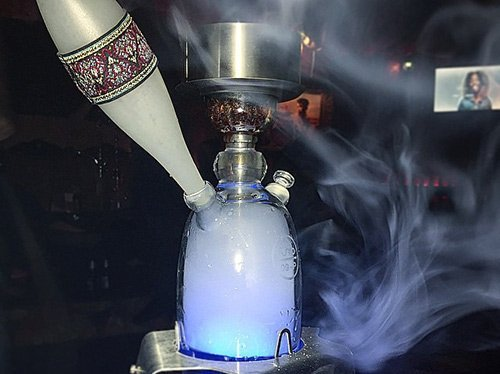 Fumo Pod hookah with Mystique ice tip setup