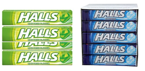 Halls mouth fresheners candy packages